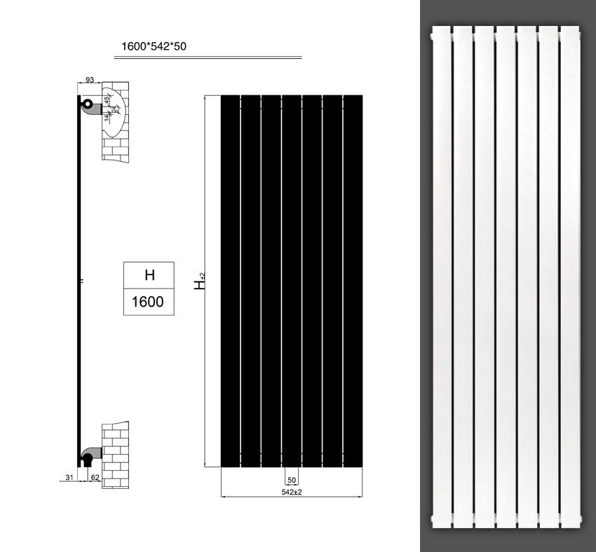 design paneelheizk rper flachheizk rper badheizk rper mittelanschluss 1600 x 542 ebay. Black Bedroom Furniture Sets. Home Design Ideas
