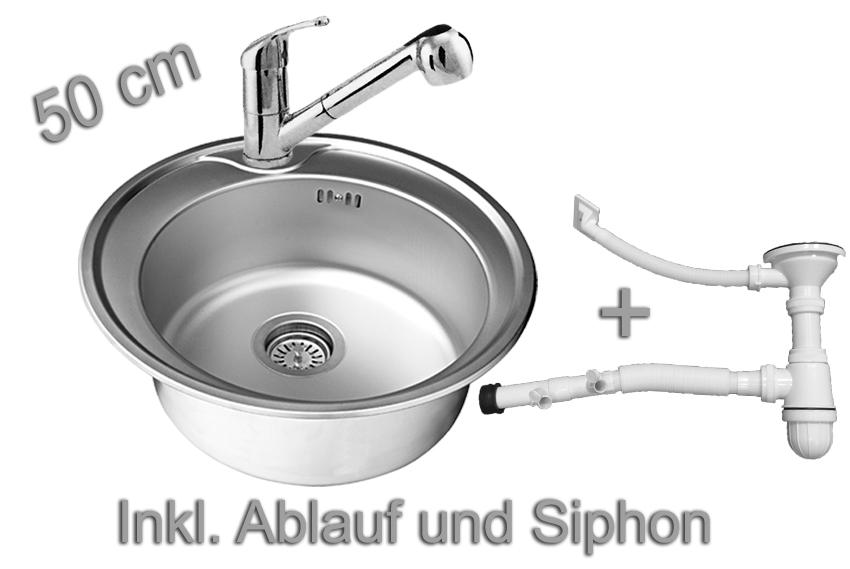 Lavello acciaio inox tondo da incasso cucina rubinetteria ebay - Lavello cucina rotondo ...