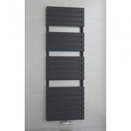 1200 x 600 mm Flach Anthrazit Badheizkörper Handtuchwärmer Mittelanschluss