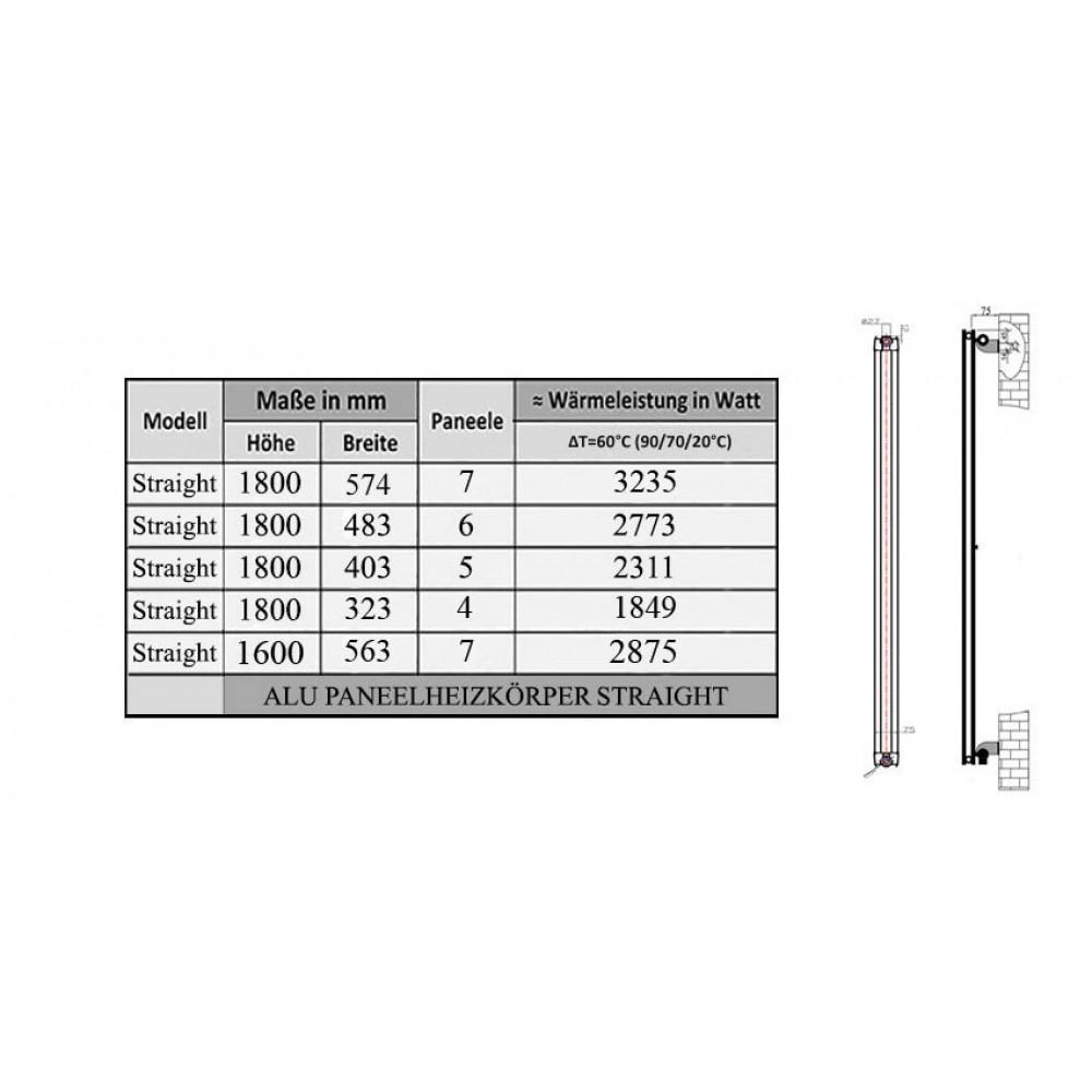 1600x563 aluminium flach ventil anthrazit heizk rper. Black Bedroom Furniture Sets. Home Design Ideas