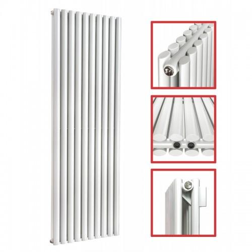 1800 x 590 Ellipse Doppellagig Weiss Mittelanschluss Paneelheizkörper