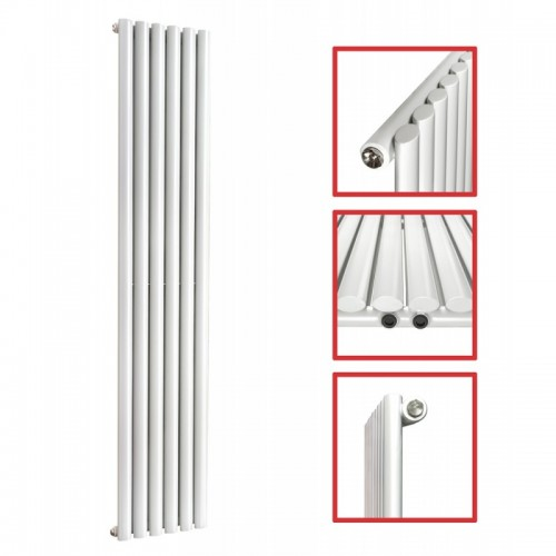 1600X 354 Ellipse Einlagig Weiss Mittelanschluss Paneelheizkörper