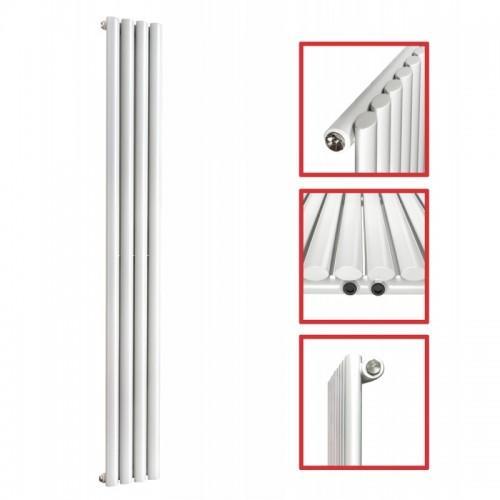 1600X 236 Ellipse Einlagig Weiss Seitenanschluss Paneelheizkörper