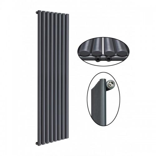 1600 x 560 mm Einlagig Mittelanschluss Anthrazit (RAL 7016) Paneelheizkörper NEU Ellipse Design