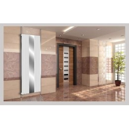 Spiegel Paneelheizkörper 1800x610 Doppellagig Weiß Flach Seitenanschluss