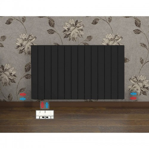 1232 x 600 mm doppellagig Anthrazit Flach Heizkörper Paneelheizkörper Horizontal Badheizkörper