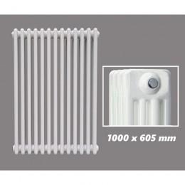 DESIGN RÖHRENHEIZKÖRPER 1000 X 605 MM WEISS (RAL 9016) 4 LAGIG