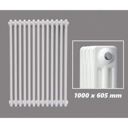 DESIGN RÖHRENHEIZKÖRPER 1000 X 605 MM WEISS (RAL 9016) 3 LAGIG