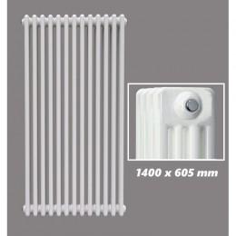 DESIGN RÖHRENHEIZKÖRPER 1400 X 605 MM WEISS (RAL 9016) 4 LAGIG