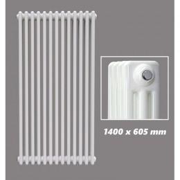 DESIGN RÖHRENHEIZKÖRPER 1400 X 605 MM WEISS (RAL 9016) 3 LAGIG