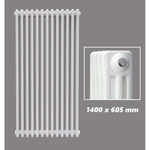 1400 X 605 mm Design Röhrenheizkörper Weiss 3 Lagig